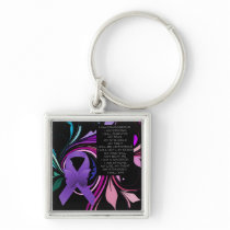 Purple Awareness Ribbon/poem Keychain