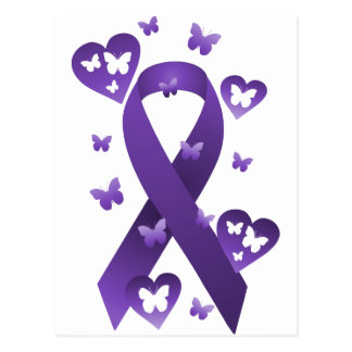 Purple Awareness Ribbon Postcard