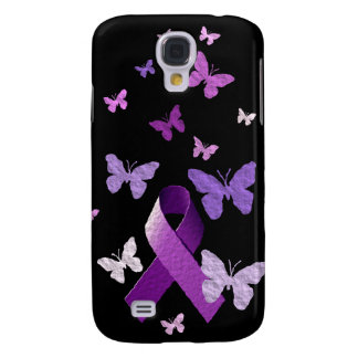 Purple Awareness Ribbon Samsung S4 Case