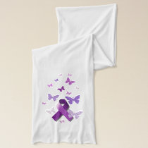 Purple Awareness Ribbon Scarf