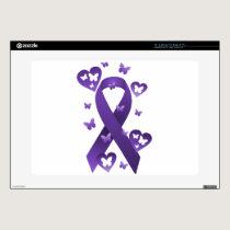 Purple Awareness Ribbon Skin For Laptop