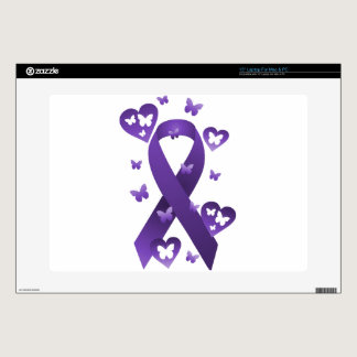 Purple Awareness Ribbon Skin For Laptop