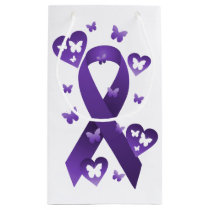 Purple Awareness Ribbon Small Gift Bag
