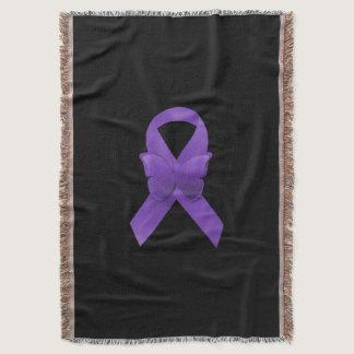 Purple Awareness Ribbon Throw