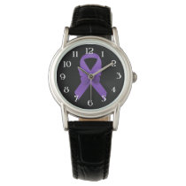 Purple Awareness Ribbon Watch
