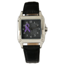 Purple Awareness Ribbon with poem Watches