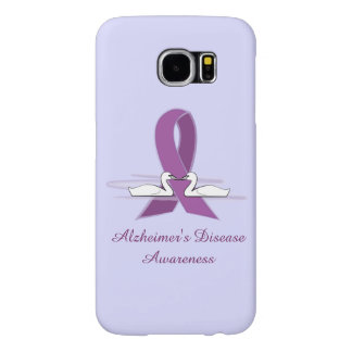 Purple Awareness Ribbon with Swans Samsung Galaxy S6 Case