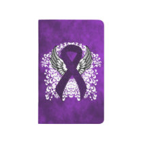 Purple Awareness Ribbon with Wings Journal