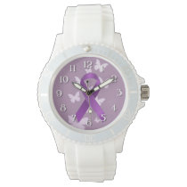Purple Awareness Ribbon Wristwatch