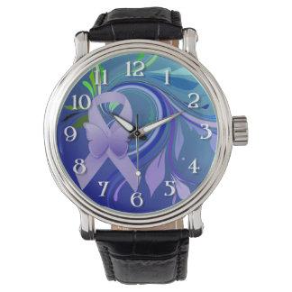 Purple Awareness Ribbon Wristwatch