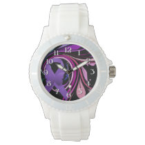 Purple Awareness Ribbon Wristwatches