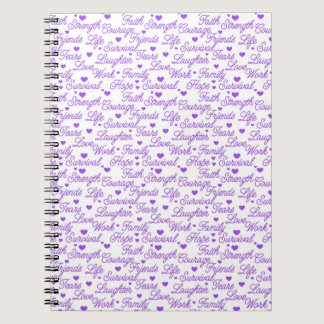 Purple Awareness Words Notebook