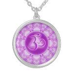 Purple Awesome Neckace Round Pendant Necklace
