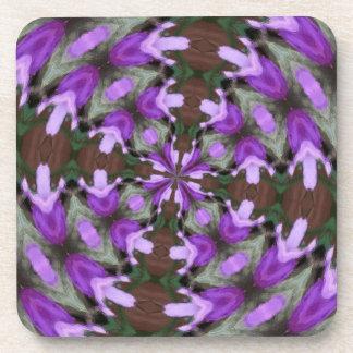 Purple Azaleas Fractal Beverage Coaster