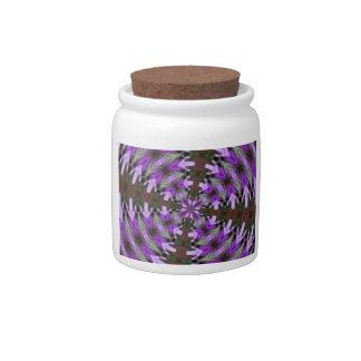 Purple Azaleas Fractal Candy Jars