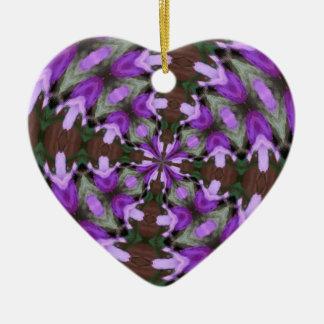 Purple Azaleas Fractal Ceramic Ornament