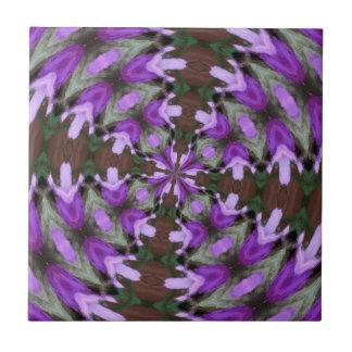 Purple Azaleas Fractal Ceramic Tile