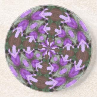 Purple Azaleas Fractal Drink Coaster