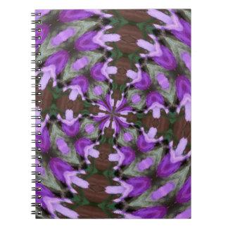 Purple Azaleas Fractal Notebook