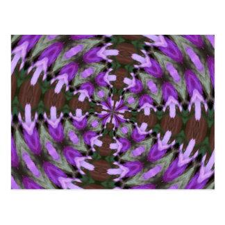 Purple Azaleas Fractal Postcard