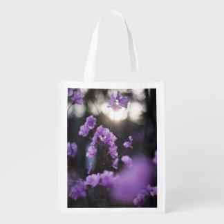 Purple Azaleas of Hope Reusable Grocery Bag