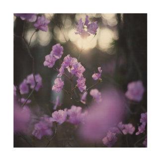 Purple Azaleas of Hope Wood Print