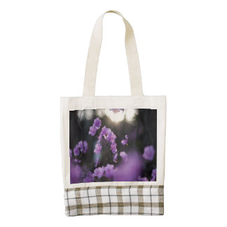 Purple Azaleas of Hope Zazzle HEART Tote Bag