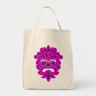 Purple Aztec Mask Tote Bag