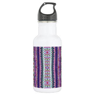 purple aztec stainless steel water bottle