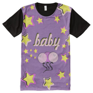 Purple Baby all over/Adult Baby/ABDL all over All-Over-Print T-Shirt