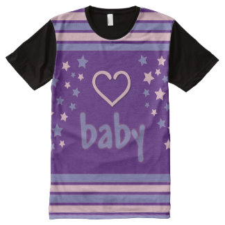 Purple Baby all over love/Adult Baby/ABDL all over All-Over-Print T-Shirt