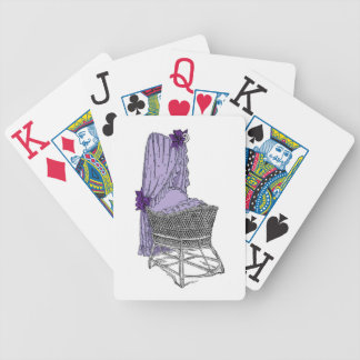 Purple Baby Bassinet Playing Cards