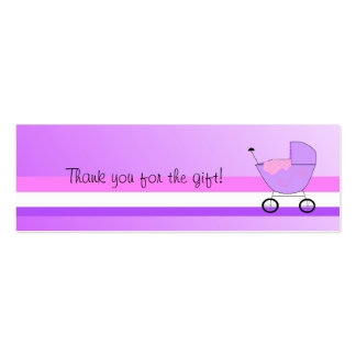 Purple Baby Buggy Mini Business Card