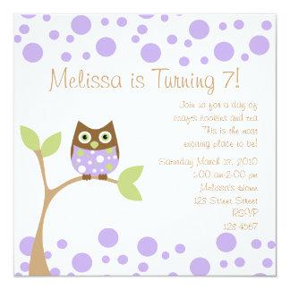 Purple Baby Owl Card