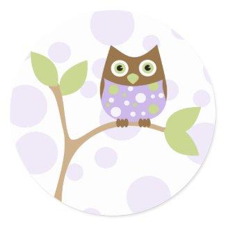 Purple Baby Owl sticker
