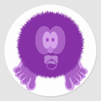 Purple Baby Pom Pom Pal Stickers