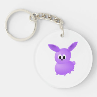 Purple Baby Rabbit. Keychain