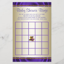Purple Baby Shower Bingo Girl Baby Shower Games