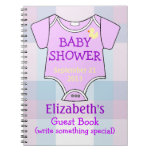 Purple Baby Shower Guests Notebooks