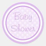 Purple Baby Shower Stickers