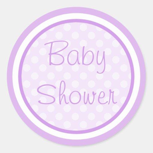 purple baby shower stickers zazzle