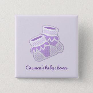 purple baby socks button