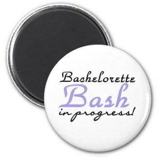 Purple Bachelorette Bash 2 Inch Round Magnet