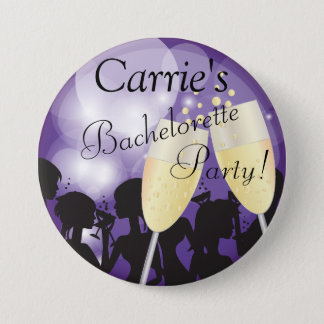 Purple -  Bachelorette Diva Girls Night Out Pinback Button