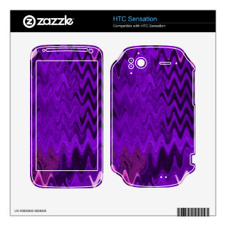 purple background design skin for HTC sensation