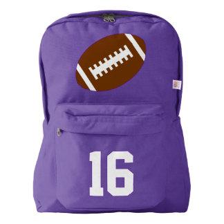 Purple Backpack: Football American Apparel™ Backpack