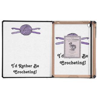 Purple Ball of Yarn & Crochet Hooks iPad Cover