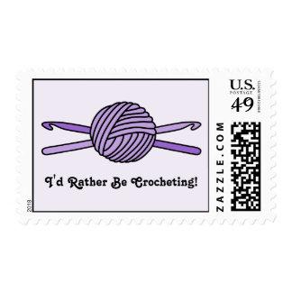 Purple Ball of Yarn & Crochet Hooks (Purple Back) Postage