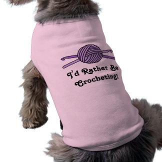 Purple Ball of Yarn & Crochet Hooks Shirt