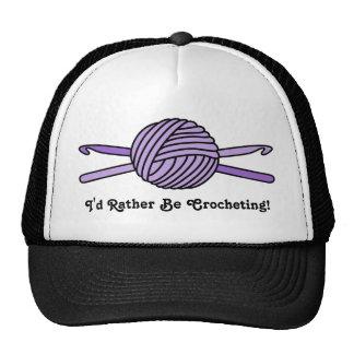 Purple Ball of Yarn & Crochet Hooks Trucker Hat